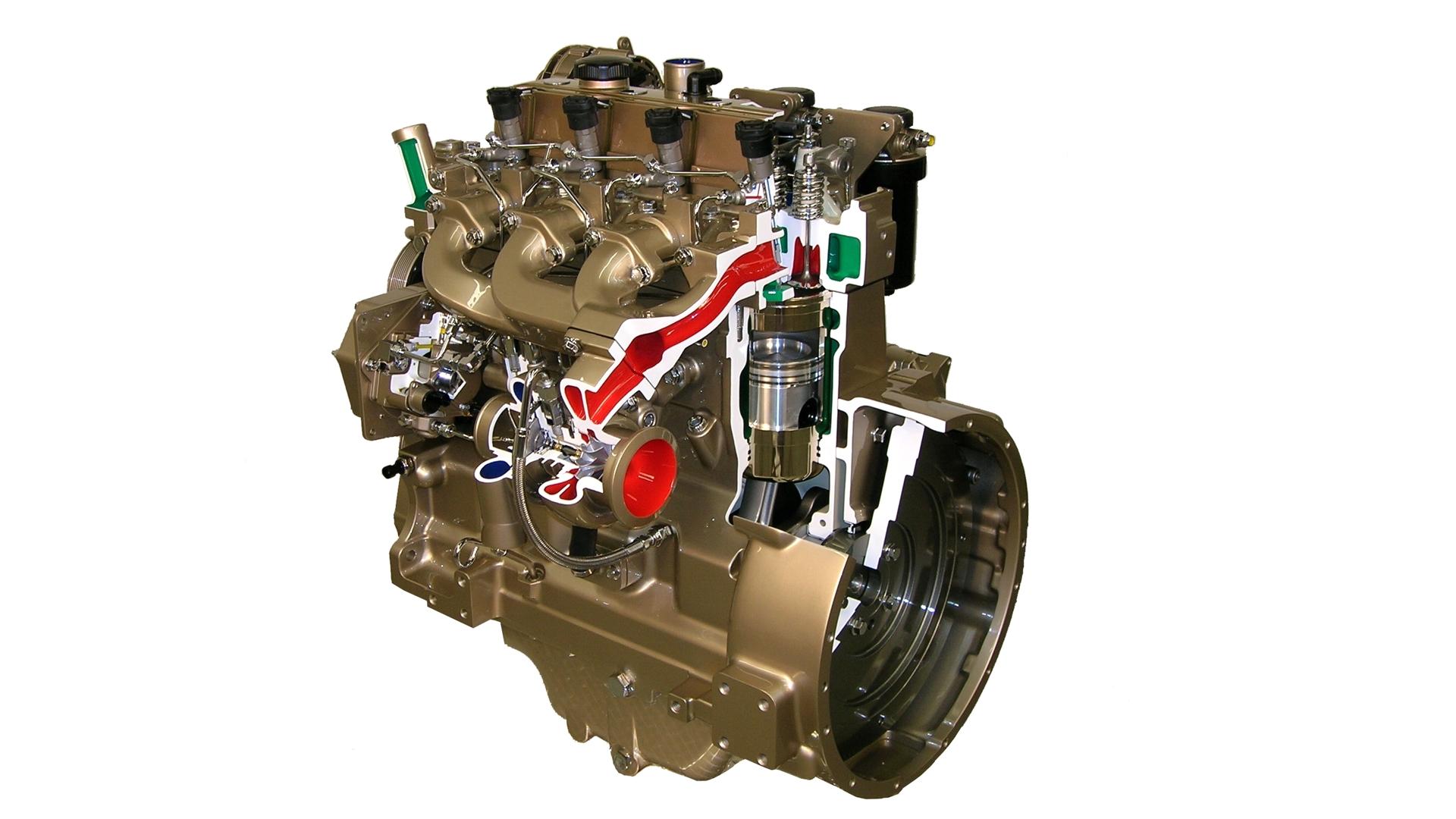 John Deere Diesel Engine Cutaway Display