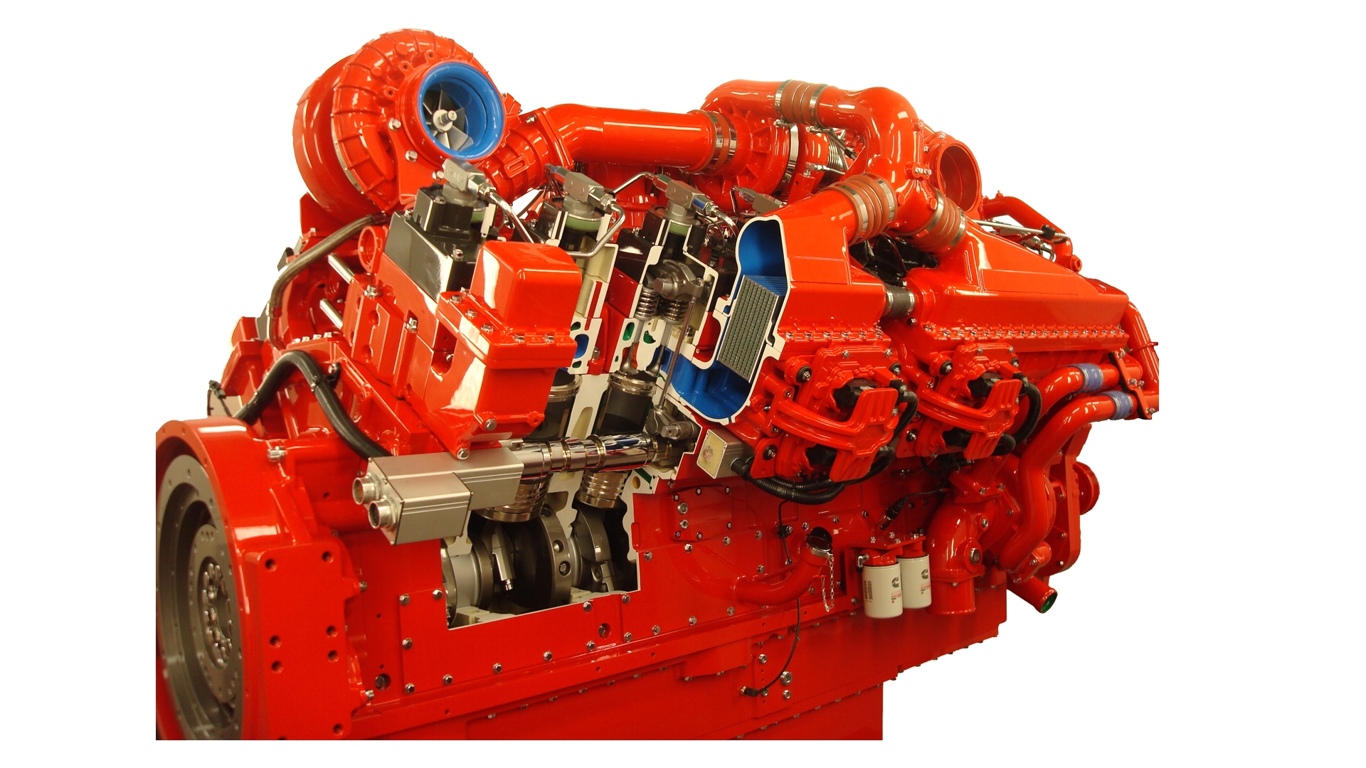 Cummins Diesel Engine Cutaway Display