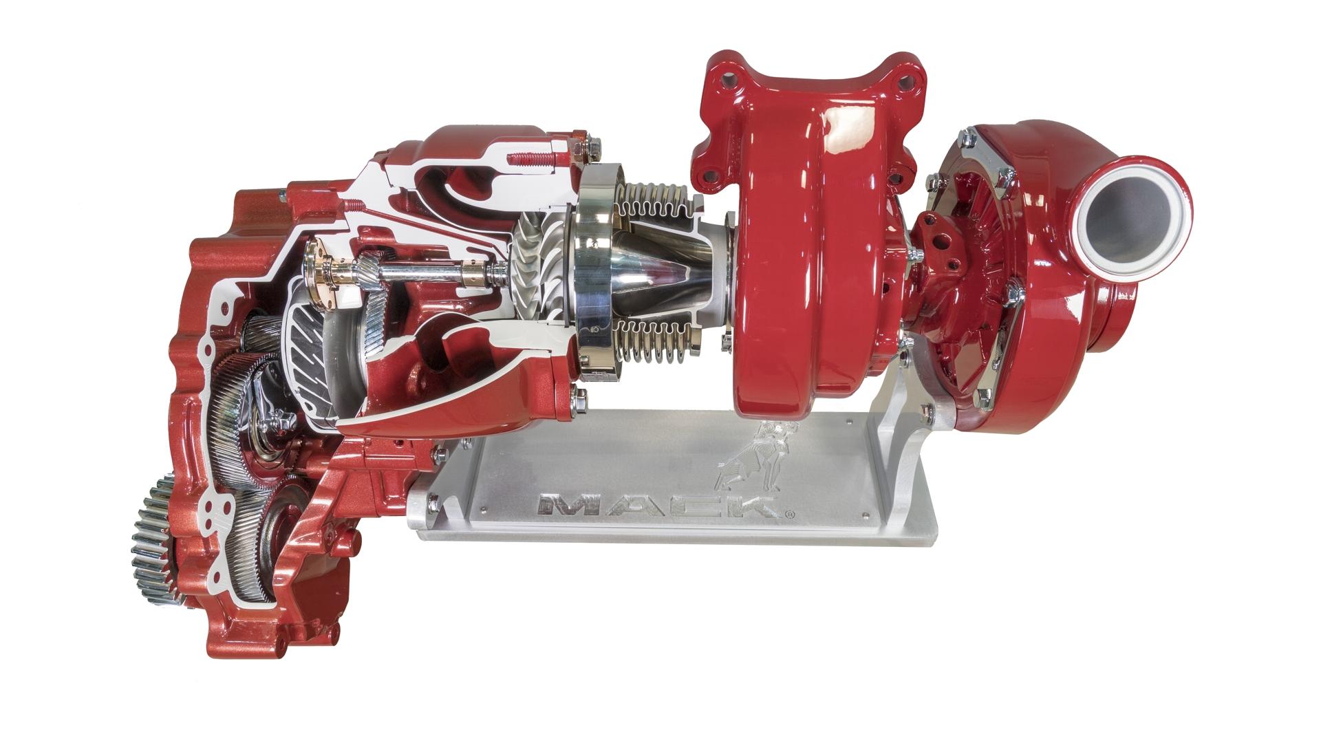 Mack Compounding Turbo Cutaway Display