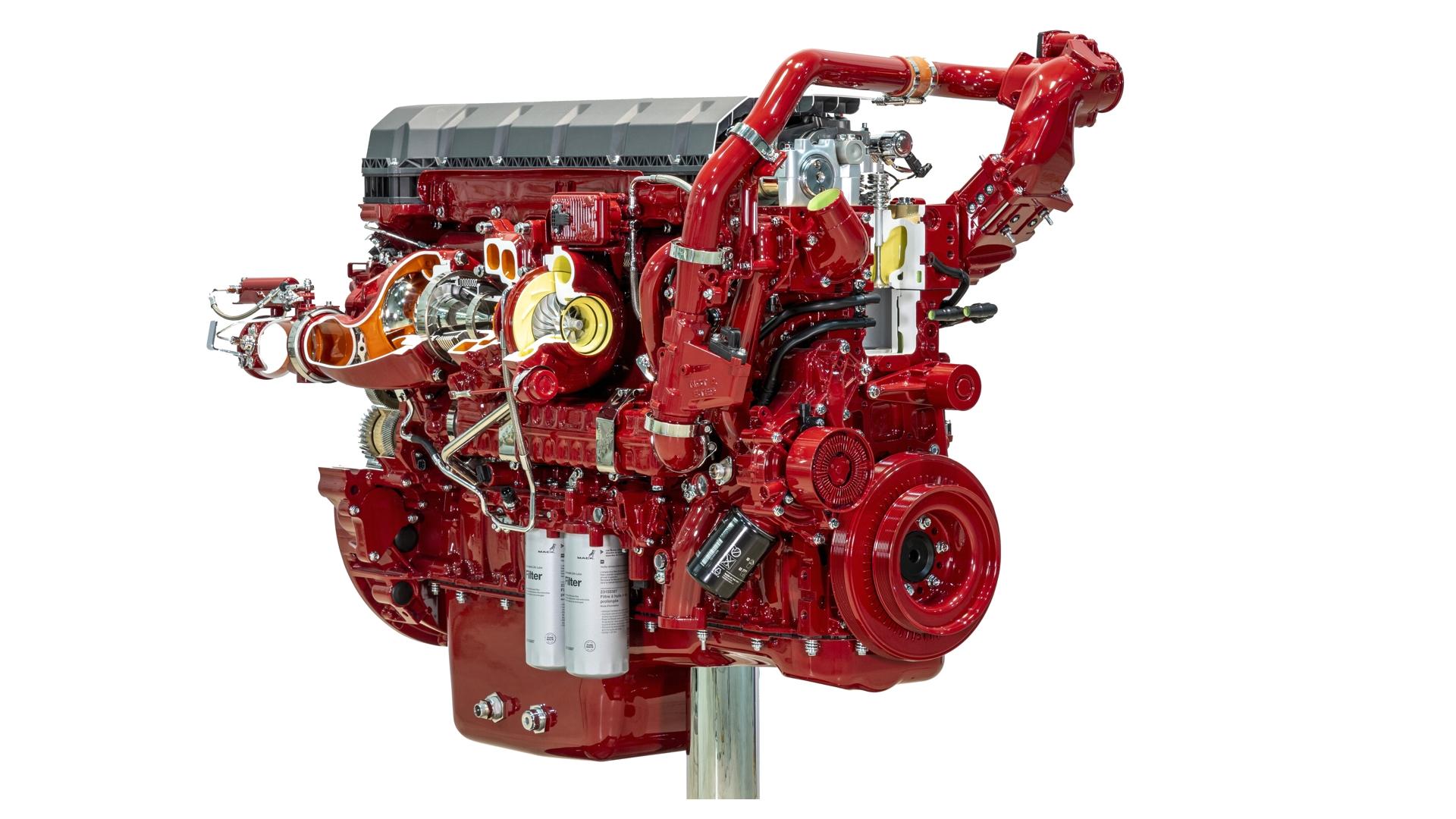 Mack Diesel Engine Cutaway Display